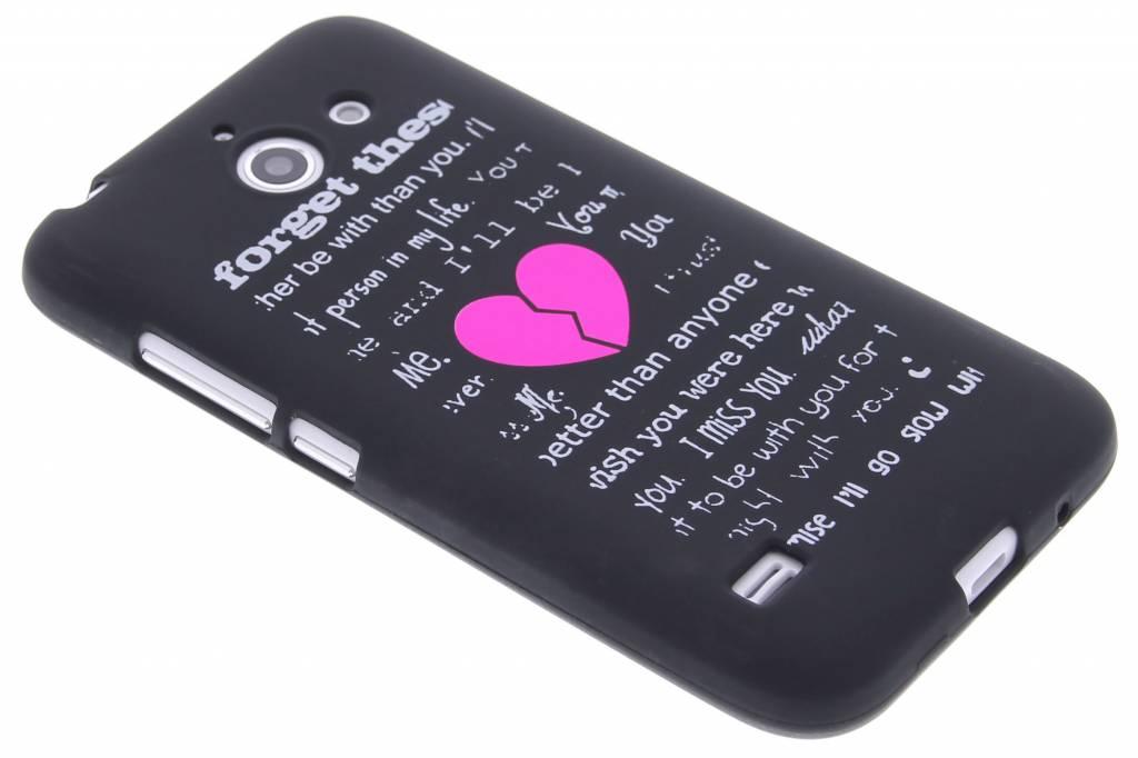 Forget glow in the dark TPU case voor de Huawei Ascend Y550