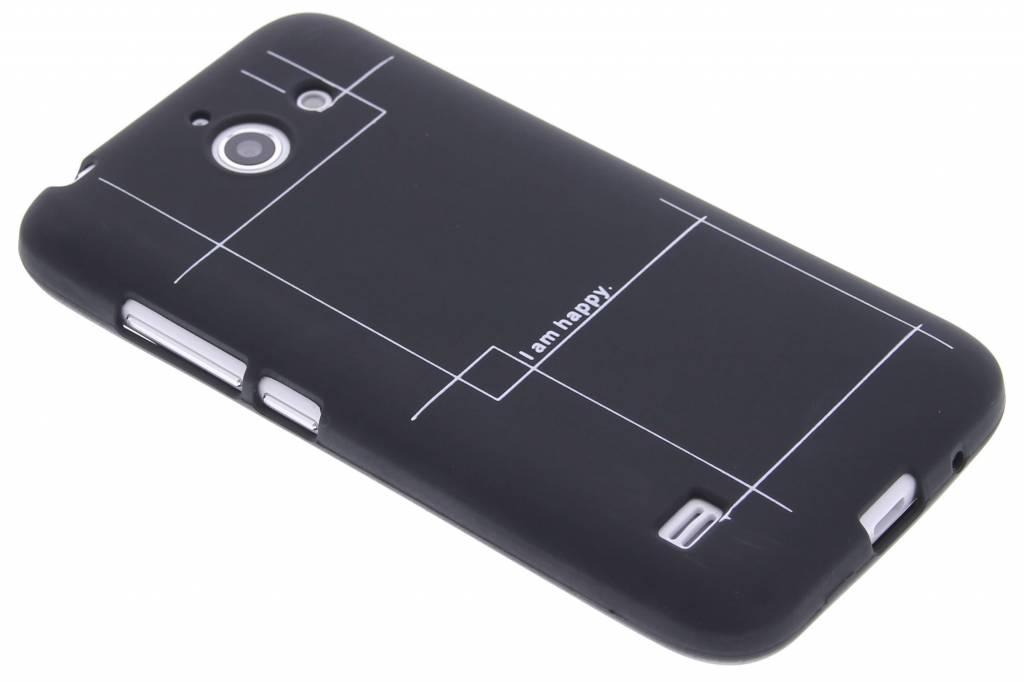 I am happy glow in the dark TPU case voor de Huawei Ascend Y550