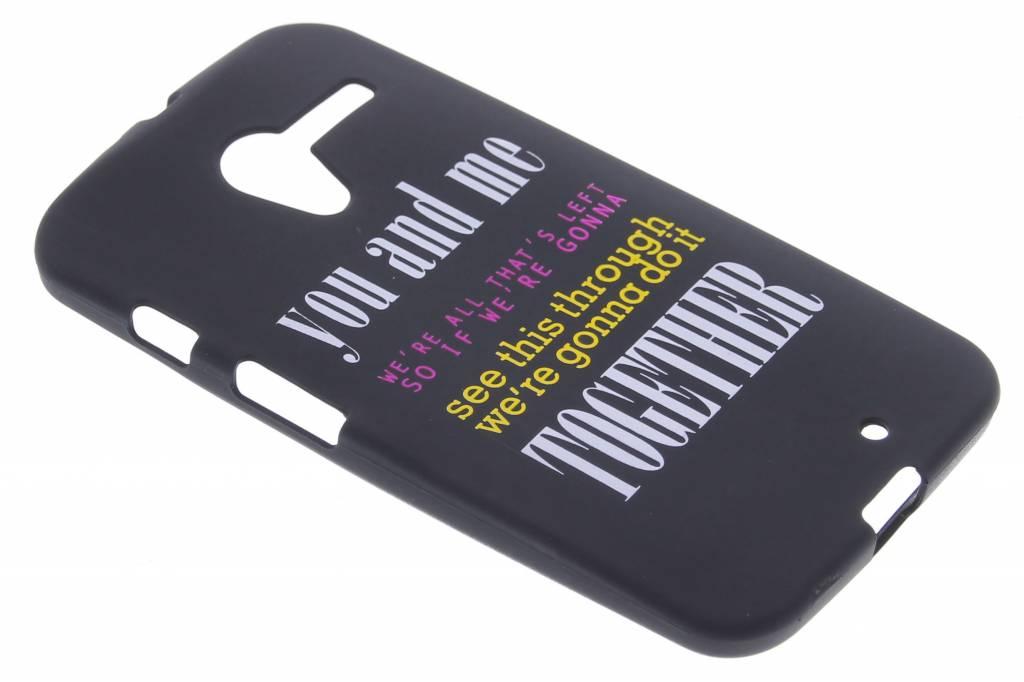 You and me glow in the dark TPU case voor de Motorola Moto X