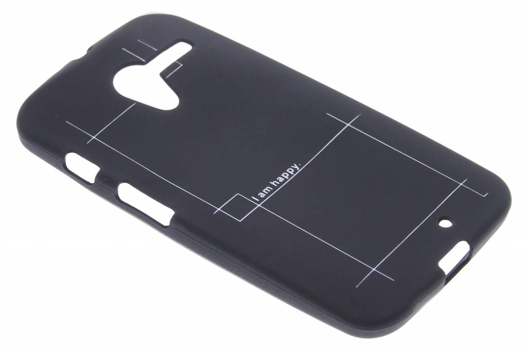 I am happy glow in the dark TPU case voor de Motorola Moto X