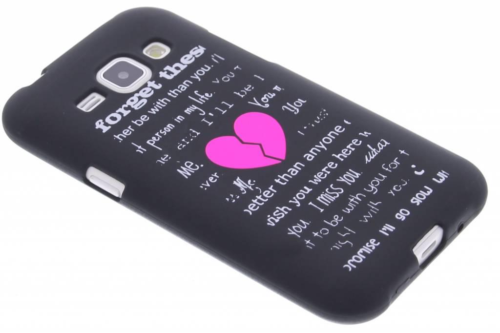 Forget glow in the dark TPU case voor de Samsung Galaxy J1