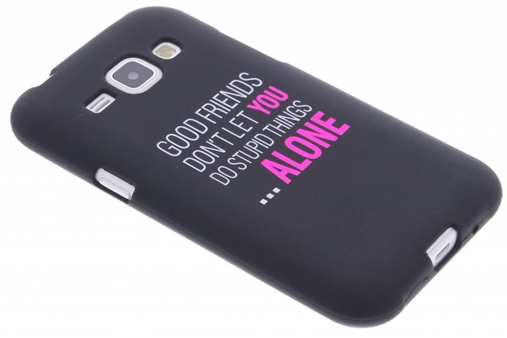 Good friends glow in the dark TPU case voor de Samsung Galaxy J1
