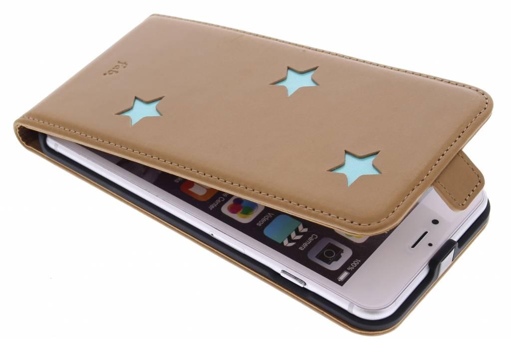 Aqua Reversed Star Flipcase voor de Phone 6(s) Plus
