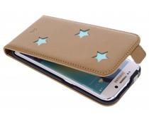 Fab. Aqua Reversed Star Flipcase Samsung Galaxy S6 Edge