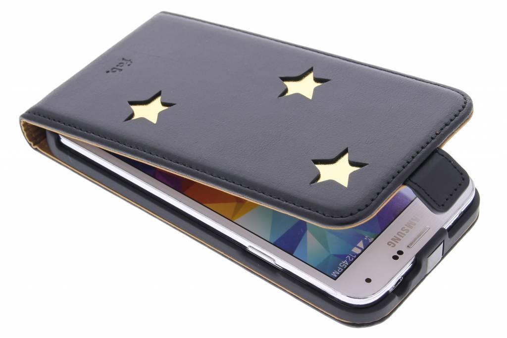 Fab. Gold Reversed Star Flipcase voor de Samsung Galaxy S5 (Plus) / Neo