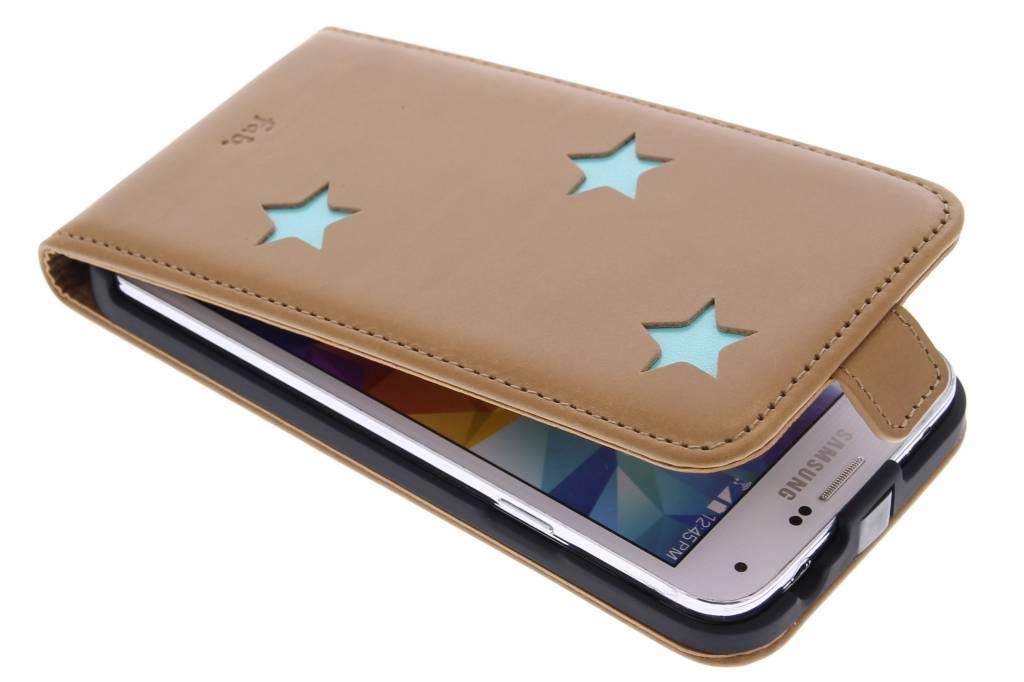 Fab. Aqua Reversed Star Flipcase voor de Samsung Galaxy S5 (Plus) / Neo