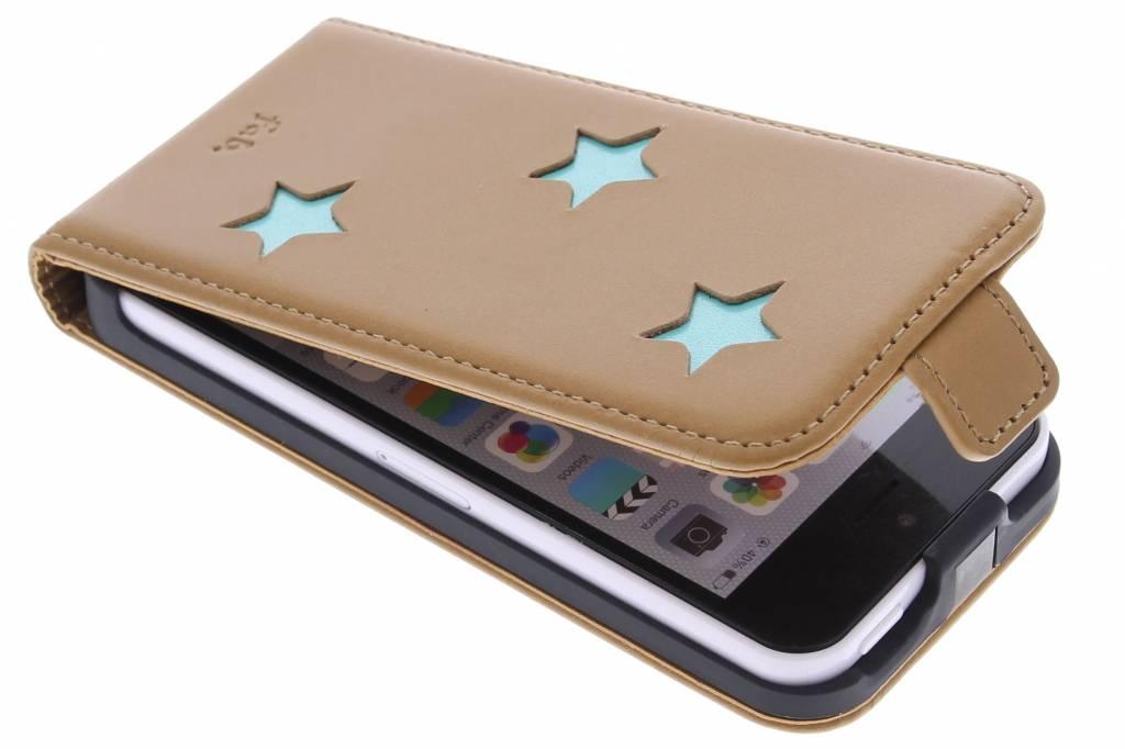 Fab. Aqua Reversed Star Flipcase voor de iPhone 5c