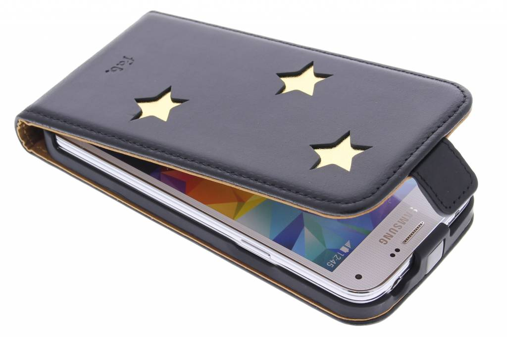 Fab. Gold Reversed Star Flipcase voor de Samsung Galaxy S5 Mini