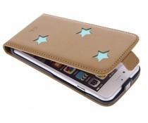 Fab. Aqua Reversed Star Flipcase iPhone 6 / 6s