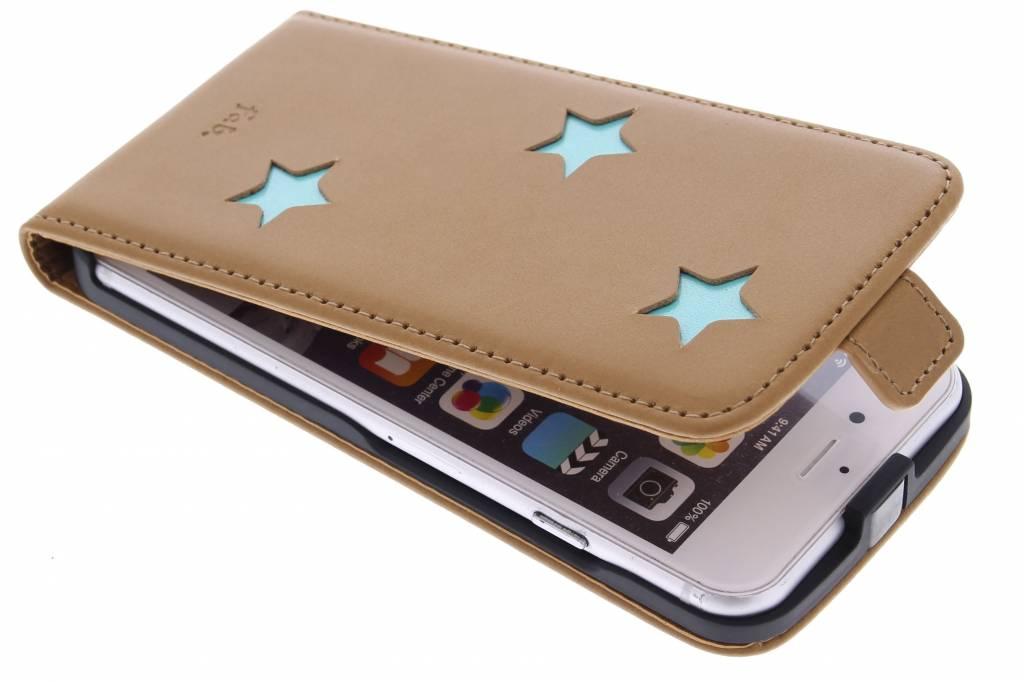 Fab. Aqua Reversed Star Flipcase voor de iPhone 6 / 6s