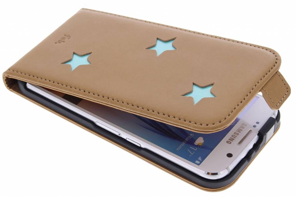 Aqua Reversed Star Flipcase voor de Samsung Galaxy S6