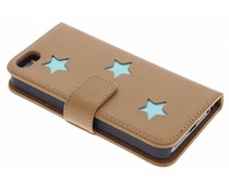 Fab. Aqua Reversed Star Booktype iPhone 5 / 5s / SE