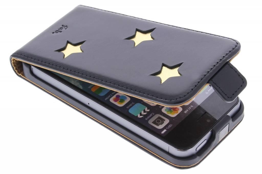 Fab. Gold Reversed Star Flipcase voor de iPhone 5 / 5s / SE