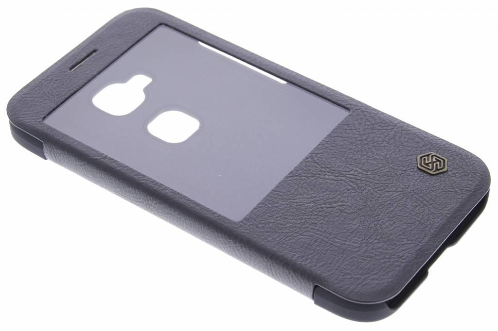 Nillkin Qin Leather slim booktype hoes met venster voor de Huawei G8 - Zwart
