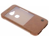 Nillkin Qin Leather slim booktype Huawei G8 - Bruin