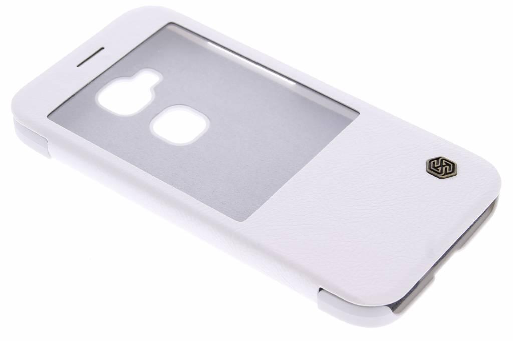 Nillkin Qin Leather slim booktype hoes met venster voor de Huawei G8 - Wit