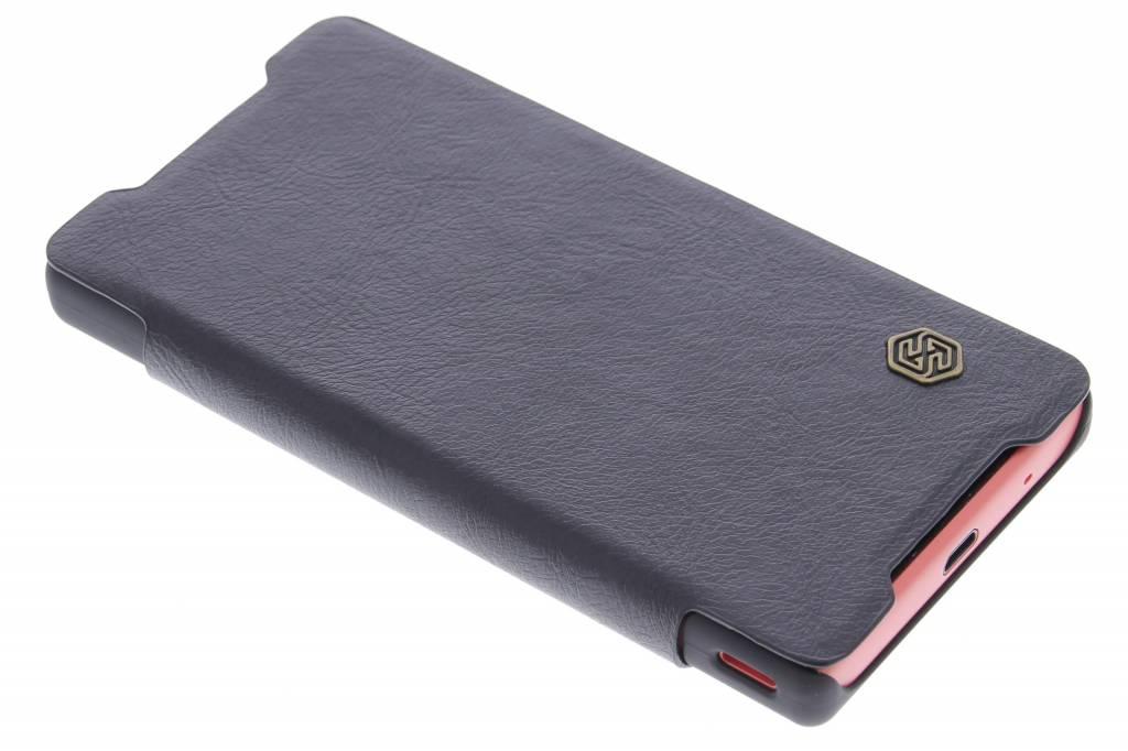 Nillkin Qin Leather slim booktype hoes voor de Sony Xperia Z5 Compact - Zwart
