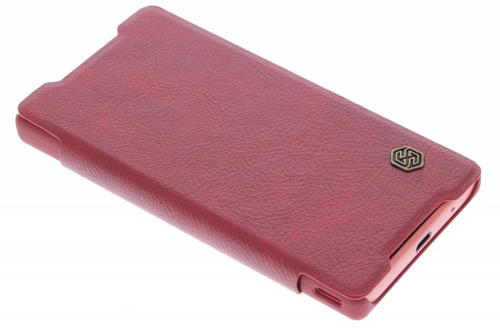 Nillkin Qin Leather slim booktype hoes voor de Sony Xperia Z5 Compact - Rood