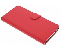 Rood effen booktype hoes Sony Xperia C5 Ultra