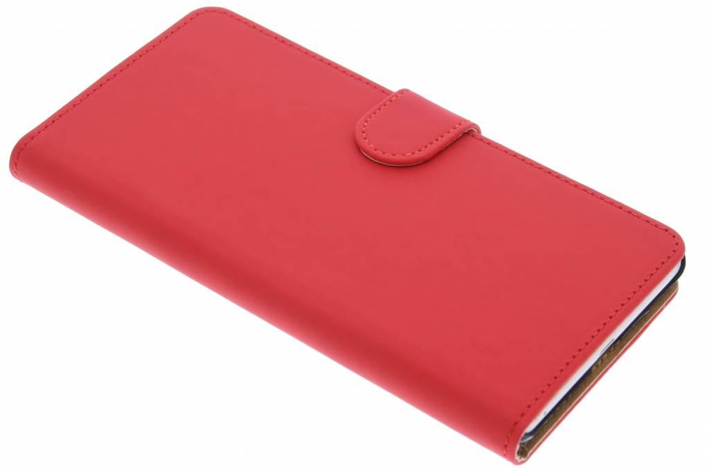 Rode effen booktype hoes voor de Sony Xperia C5 Ultra