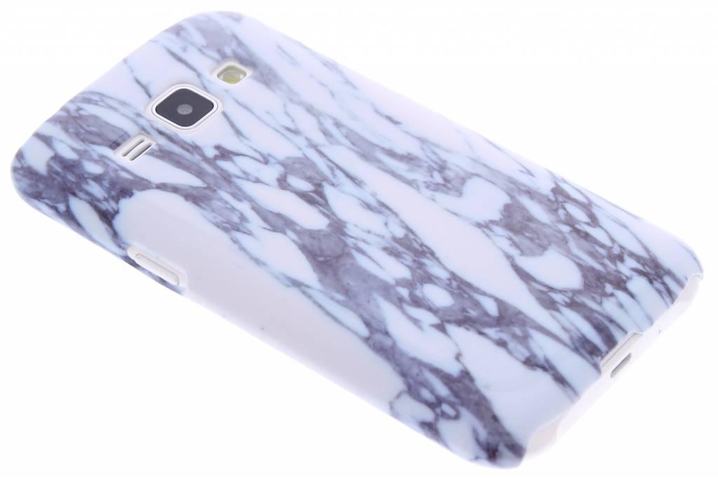 Blauw marmer hardcase hoesje voor de Samsung Galaxy J1