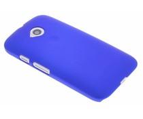 Blauw effen hardcase hoesje Motorola Moto E 2015