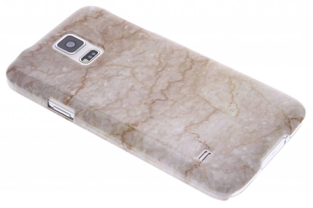 Beige marmer hardcase hoesje voor de Samsung Galaxy S5 (Plus) / Neo