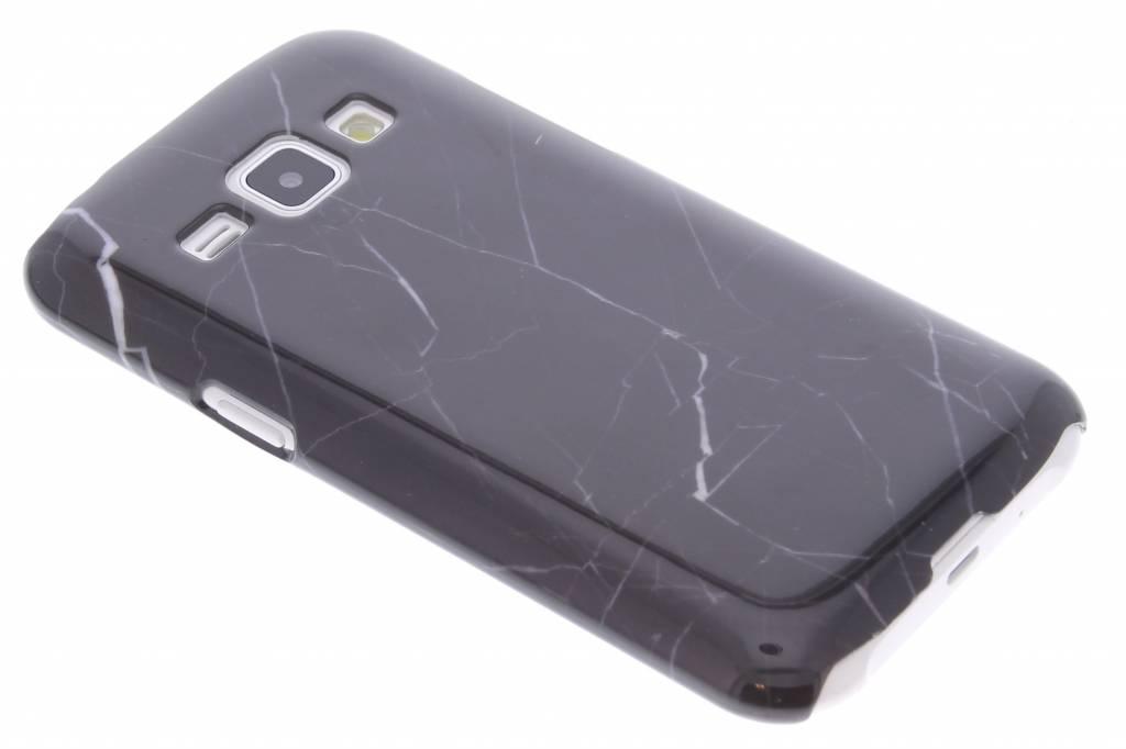 Zwart marmer hardcase hoesje voor de Samsung Galaxy J1
