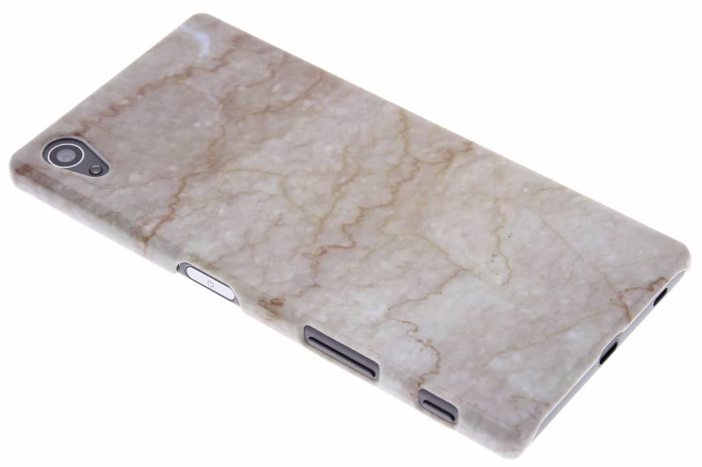 Beige marmer hardcase hoesje voor de Sony Xperia Z5