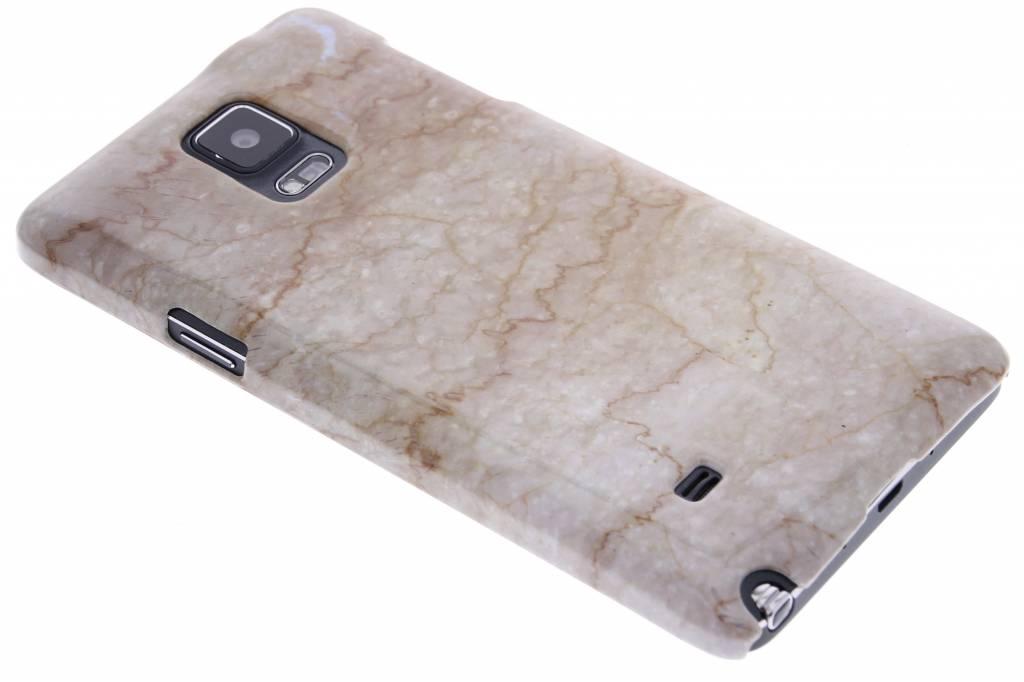Beige marmer hardcase hoesje voor de Samsung Galaxy Note 4