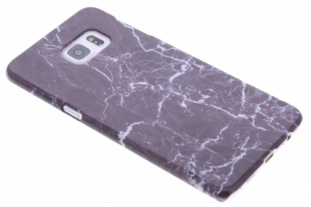 Donkerpaars marmer hardcase hoesje voor de Samsung Galaxy S6 Edge Plus