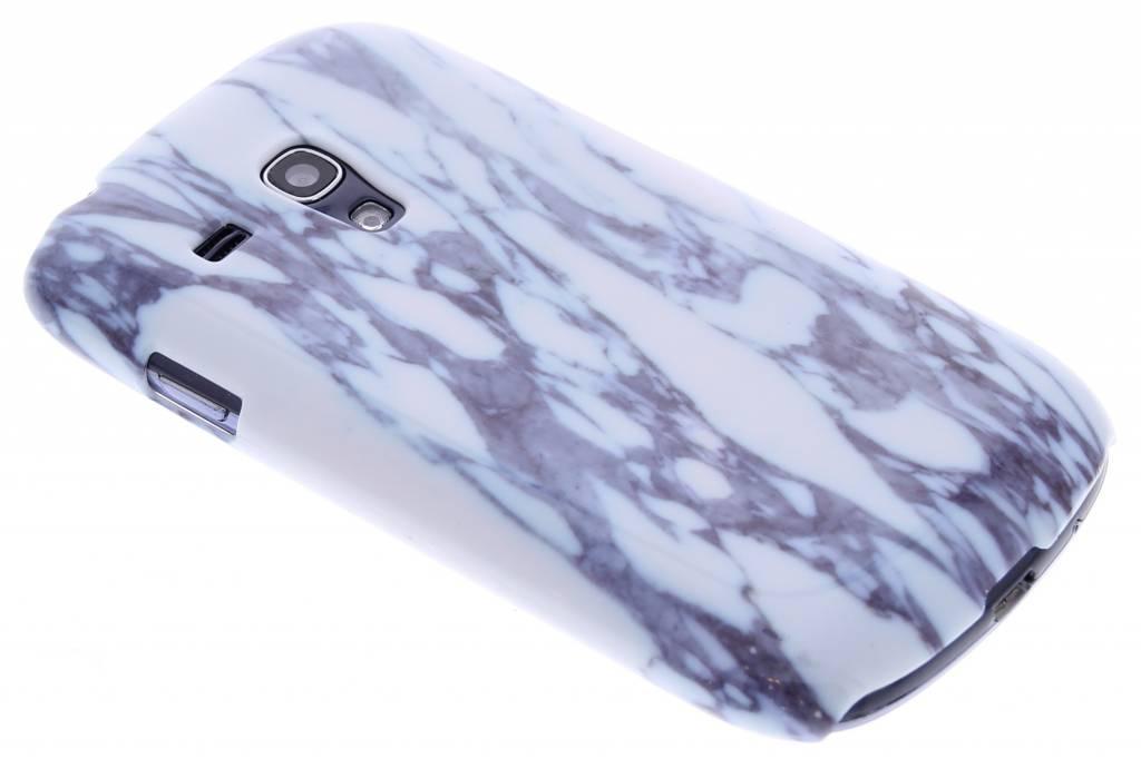 Blauw marmer hardcase hoesje voor de Samsung Galaxy S3 Mini
