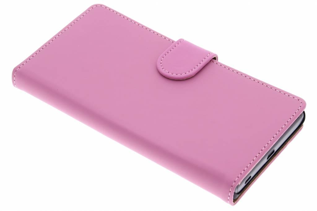 Roze effen booktype hoes voor de Sony Xperia Z5