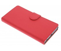 Rood effen booktype hoes Sony Xperia Z5
