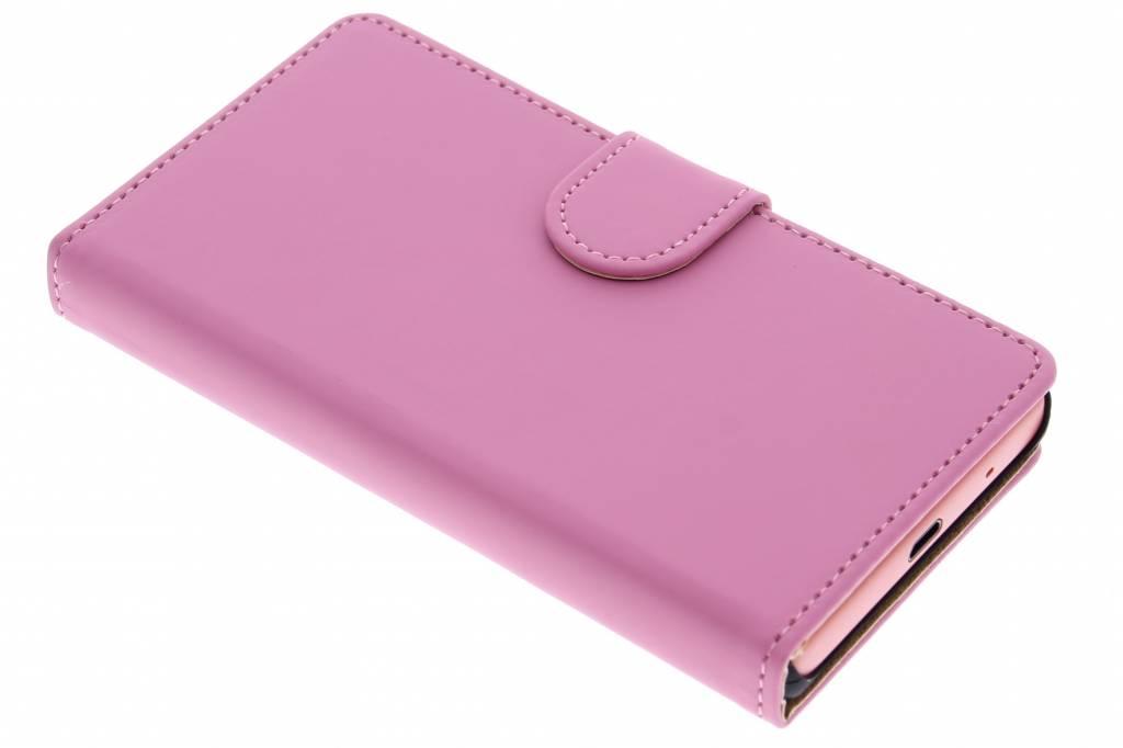 Roze effen booktype hoes voor de Sony Xperia Z5 Compact