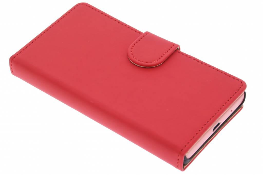 Rode effen booktype hoes voor de Sony Xperia Z5 Compact