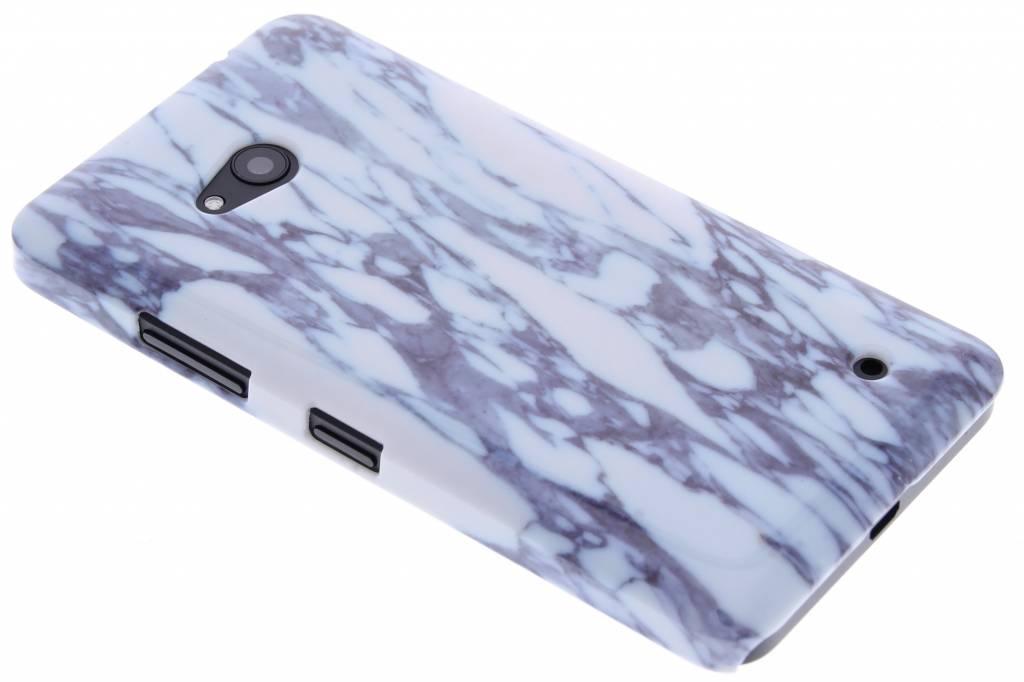 Blauw marmer hardcase hoesje voor de Microsoft Lumia 640