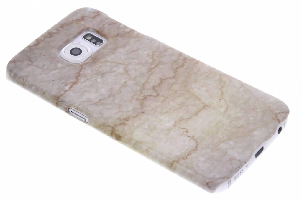 Beige marmer hardcase hoesje voor de Samsung Galaxy S6 Edge