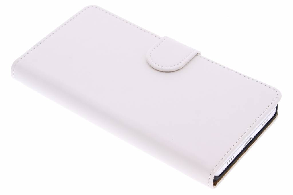 Witte effen booktype hoes voor de Huawei Shot X