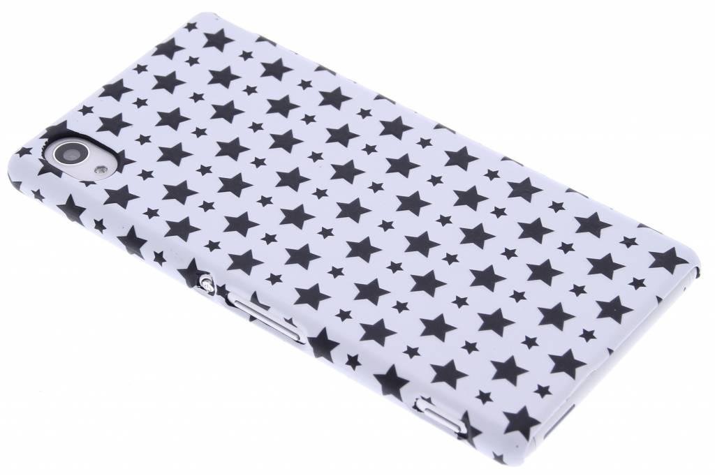 Wit sterren design hardcase voor de Sony Xperia M4 Aqua
