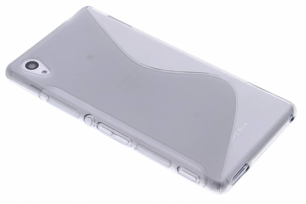 Grijs S-line TPU hoesje voor de Sony Xperia M4 Aqua