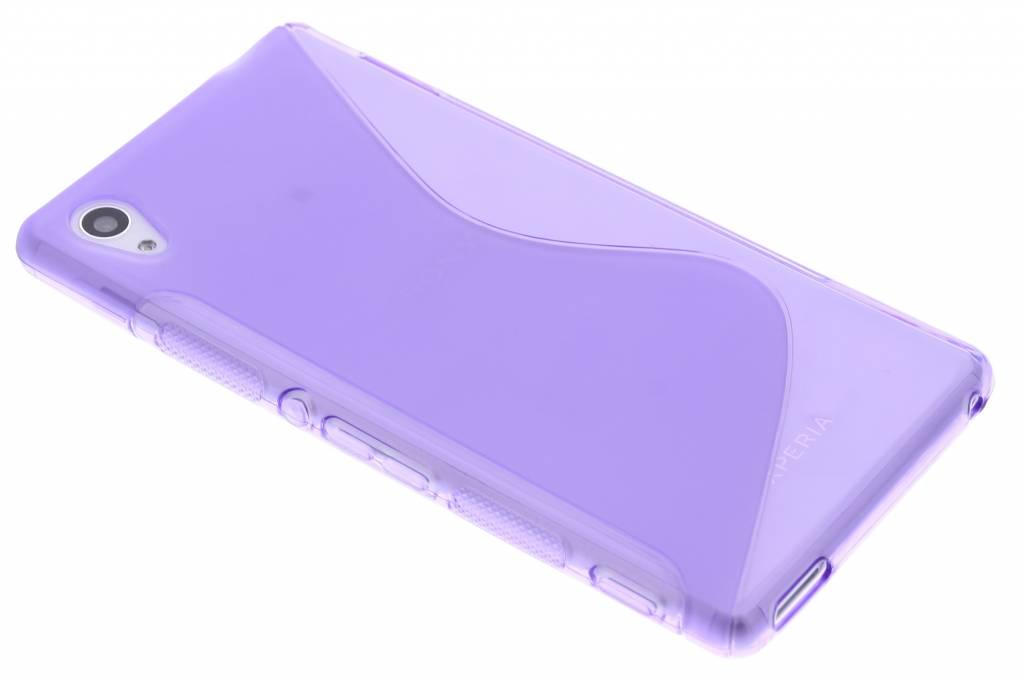 Paars S-line TPU hoesje voor de Sony Xperia M4 Aqua
