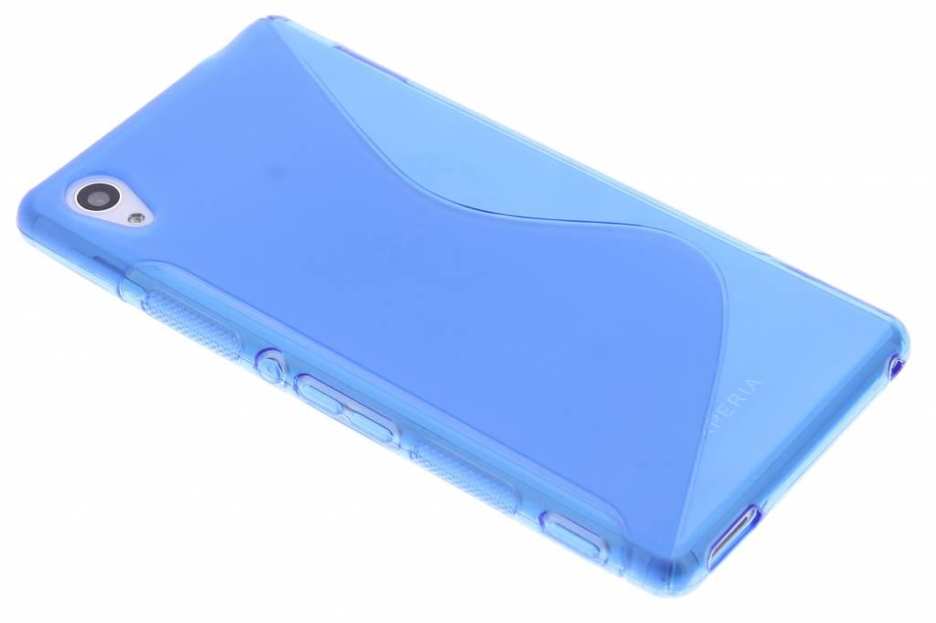 Blauw S-line TPU hoesje voor de Sony Xperia M4 Aqua
