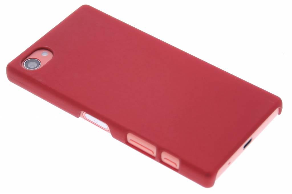 Rood effen hardcase hoesje voor de Sony Xperia Z5 Compact