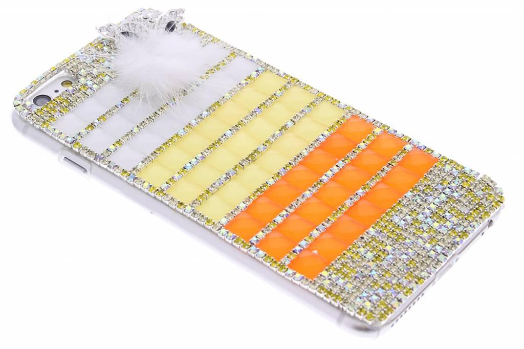 Geel glazen strass hardcase hoesje voor de iPhone 6(s) Plus