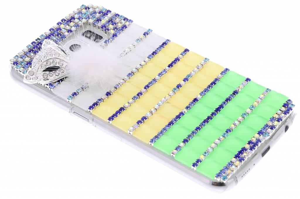 Multicolor glazen strass hardcase hoesje voor de Samsung Galaxy S6