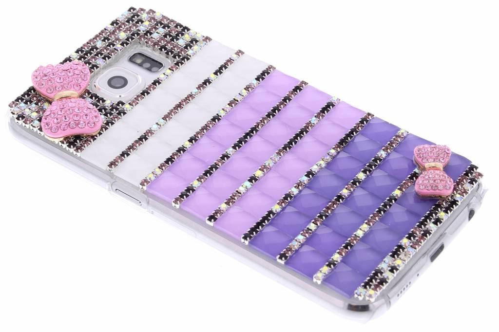 Strik glazen strass hardcase hoesje voor de Samsung Galaxy S6