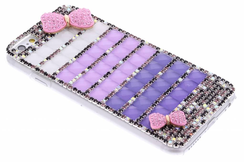 Strik glazen strass hardcase hoesje voor de iPhone 6 / 6s