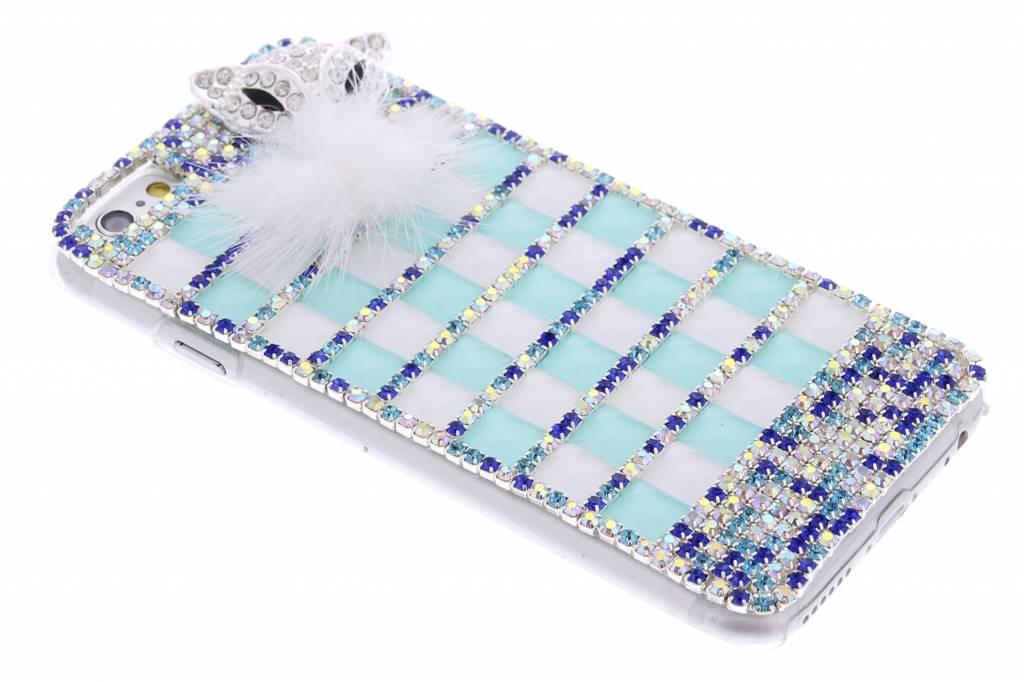 Mintgroen glazen strass hardcase hoesje voor de Samsung Galaxy S6