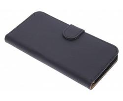 Zwart effen booktype hoes Huawei G8